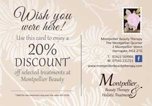montpellier beauty therapy 20 discount voucher