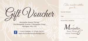 montpellier beauty therapy gift voucher